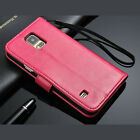 Samsung Galaxy S5 Leather Stand Wallet Case w/ Magnetic Flip Cover & Card Slots