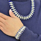 antique necklace with rhinestones beads necklace bracelet set for woman NL-1946