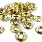 No. 8  BRASS PLATED SCREW CUP WASHER SURFACE MOUNT - FREE UK DELIVERY
