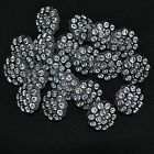10 x imitation diamante buttons  round  12mm or 15mm glittery & pretty