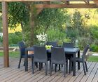 Keter Toscana Dining Chairs (Set of 2) Rattan Anthracite Stackable Free Delivery