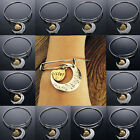 """Gold & Silver """"I Love You To The Moon And Back"""" Family Charm Adjustable Bracelet"""