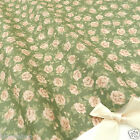 "per 1/2 metre/fat quarter 100 % cotton CHLOE vintage green 44"" wide 112cm"
