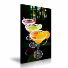 COCKTAIL 10 Drink Food & Drink 1P Canvas Framed Printed Wall Art ~ More Size