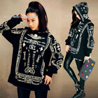 Occident Fashion Women Men AF Print Hooded Hiphop Top Long Sleeve Casual Hoodie