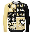 Pittsburgh Penguins Ugly Sweater Busy Block NEW NHL Christmas Holiday