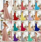 Formal Wedding Long Beads Evening Prom Cocktail Party Ball Gown Bridesmaid Dress