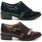NEW LADIES DOLCIS TWIN BUCKLE SMART OFFICE WORK ROUND TOE WORK SHOES UK SIZE 3-8