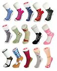 Silly Socks Lace Converse Novelty Sneakers Trainer Cotton Joke Fun Gift