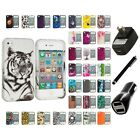 For Apple iPhone 4 4S Hard Design Case Cover Accessory Charger+Stylus