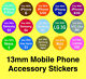 Mobile Phone Accessory Stickers - Removable Adhesive 'Use With' Labels