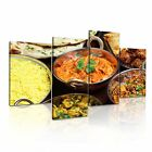 INDIAN FOOD 4 Asian Food & Drink 4A-RH Canvas Framed Printed Wall Art ~ 4 Panels