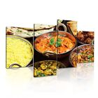 INDIAN FOOD Chicken Curry Canvas Restaurant Deco Framed Print ~ 4 Panels