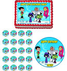 Teen Titans Go Edible Birthday Cake Cupcake Toppers Party Decoration
