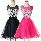 Sexy Summer Apllique Cocktail Party Ball Gown Bridesmaid Evening Prom Maxi Dress