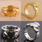New Vintage Couples Stainless Steel Claddagh Ring Hand Heart Crown LOVE Rings