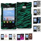 For LG Optimus Dynamic L38C Hard Design Rubberized Skin Case Cover Accessory