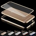 Ultra-thin Aluminum Alloy Bumper Transparent PC Cover Case For iPhone 6 / 6 Plus