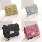 New Womens Ladies Shining Sequins Fashion Handbag Chain Mini Shoulder Bag