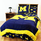 Michigan Wolverines Comforter Sham & Bedskirt Twin to King Size Reversible