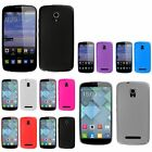 For Alcatel One Touch Pop Star (4G) Frosted TPU Silicone Rubber Gel Cover Case