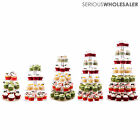 3/4/5/6/7 Tier Round Cake Cupcake Stand Clear Acrylic Wedding Display