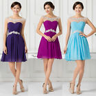 Beautiful Girl Lady Short Formal Evening Prom Party Dresses Bridesmaid Ball Gown