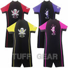 TWF KIDS SHORTY SHORTIE WETSUIT BOYS GIRLS CHILDRENS UV NEOPRENE SWIM SUN WET SU