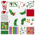THE HUNGRY CATERPILLAR COTTON FABRIC dots spots food plains New I LOVE YOU heart