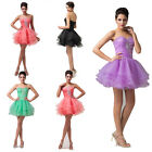 Short VINTAGE 50S Formal Evening Prom Party Dress Bridesmaid Voile Dresses Gowns