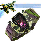Mens Womens LED Light Digital Watches Camouflage Silicone Sports Wrist Watches