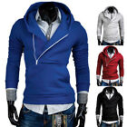 Fashion Men's Hooded Hoodies Zip Slim Fit Casual Coat Jacket Hoody Sweatshirt