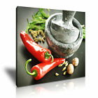 SPICE & PEPPER 72 Food & Drink 1S Canvas Framed Printed Wall Art ~ More Size