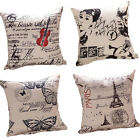 Cushion Cover Retro Photographic Print Cotton Linen Throw Pillow Case Home Decor