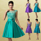 Vintage 50s Short Homecoming Evening Party Prom Bridesmaid Dress Gown  Plus Size