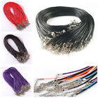 Wholesale 10/100Pc Real Leather Cord Necklace Lobster Clasp Charms Jewelry Cords