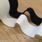 5 X METRES bunting tape  white or black 25mm wide