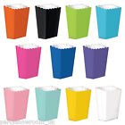 10 BRIGHT COLOURS Treat Party LARGE Sweet Favour Paper Popcorn Boxes PS