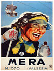 4847.Mera.Woman skiing.smiling.couple on overhead.POSTER.Decoration.Graphic Art