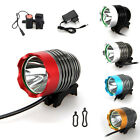 2500 Lumen CREE XM-L T6 LED Torch Headlight Headlamp Bicycle Bike Head Light SET