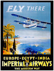 4981.Imperial airways.europe.egypt.india.POSTER.Decoration.Graphic Art