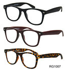 New Matte Black Wayfarers Designer Nerd Geek Reading Glasses Womens Mens Readers