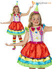 Age 4- 12 Girls Deluxe Clown Costume Circus Child Kids Fancy Dress Outfit