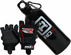Auth RDX Gel Weight Lifting Body Building Gloves, Gym Bottle Training Leather BK