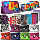 360 Rotating Leather Stand Case Cover For Samsung Galaxy Android Tabs
