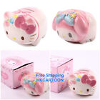 JAPAN SANRIO HELLO KITTY MY MELODY PINK PIG MINI CERAMIC COIN BANK