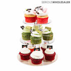 3 Tier Crystal Clear Acrylic Round Wedding Birthday Party Cupcake Stand Tower