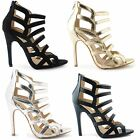 NEW LADIES WEDDING WOMENS PROM HEELS EVENING BRIDAL BRIDESMAID SANDALS SHOES