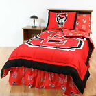 NC State Wolfpack Comforter Sham and Valance Twin to King Sets