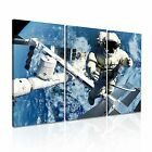 SPACE Canvas Framed Printed Wall Art 10 ~ 3 Panels